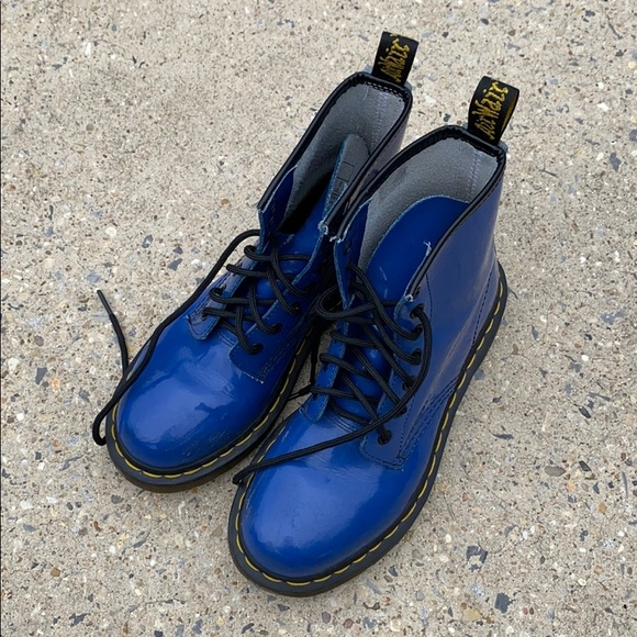 available in stock new style Dr. Marten blue boots